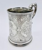 A silver tankard by George John Richards & Edward Charles Brown, hallmarked for London 1861 (Total