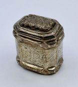 A small silver lidded curio