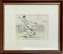 A Selection of three Tennis themed amusing prints.