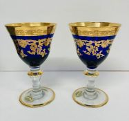 A pair of crystal Murano glasses