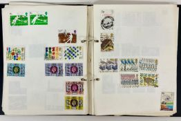A selection of five stamp albums to include four worldwide and one United Kingdom.