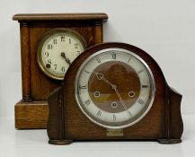 An Enfield art deco clock and a Sessions mantle clock AF