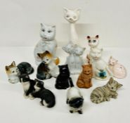 A selection of china cats