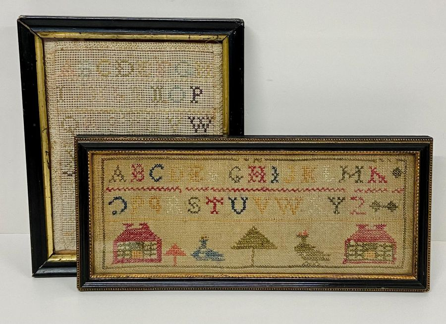 Two samplers, one Victorian and one dated 1931