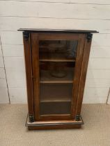 A Victorian glazed fronted cabinet (W54cm x H89cm x D36cm)