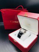 A Cartier Tank Divan watch in original box