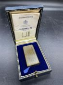 A Dunhill Lighter, in need of service and flint.