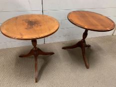 Two side tables on down swept legs