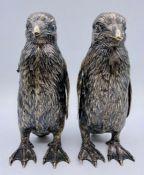 Imported German Hanau silver Penguin modells importer Berthold Hermann Muller, marked for L.