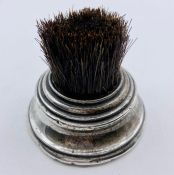 A hallmarked silver based brush, Chester 1902 by George Nathan & Ridley Hayes
