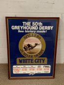"""A vintage poster of """"The 50th Greyhound Derby"""""""