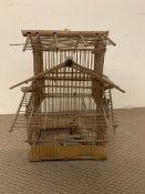 A wooden bird cage (H50cm W37cm)