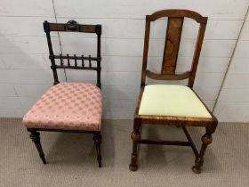 An Aesthetic occasional chair and a Queen Anne style chair