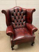 A Single Ox Blood Club Chair