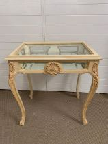 A French Rocco style bijouterie table (H78cm W70cm D48cm)