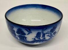 A blue Minton bowl