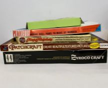 Five boxed arts and craft kits to include Mosaic wall panel, Carousel 5111, Magic Miniatures,