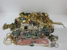 A large volume of quality costume jewellery to include silver rings, bracelets, necklaces and
