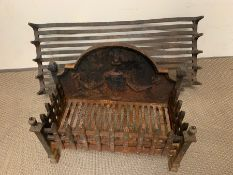 Two cast iron fire crates