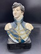A King George IV whiskey advertising advertising bust