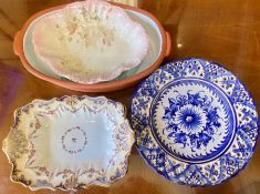 A small selection of serving dishes and plates