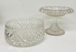 Two cut glass crystal items