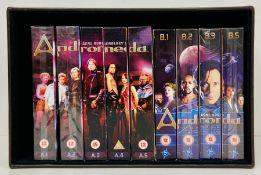 Nine Andromeda DVD sets, A.1 - A.5 and B.1, B.2, B.3 and B.5