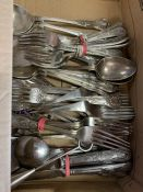 A large volume of silver plated items