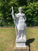 A Roman style marble statue (180 cm h)