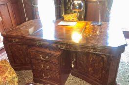 A large Brights of Nettlebed desk 198cm w x 110cm d x 78cm h