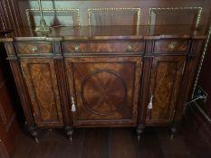 A Break front side cabinet 164 cm w x 41 cm d x 92cm h