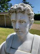 A Roman style marble statue 180 cm