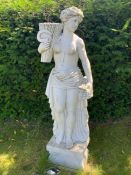 A Marble statue of a Roman woman 160 cm high