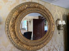 A Gilt over mantle mirror (110cm w x 90 cm)