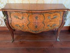 A Two drawer Theodore Alexander commode (144cm x 54cm x 85cm)