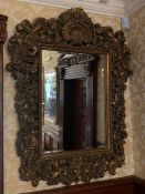 A French style mirror (120cm h x 90 cm w)
