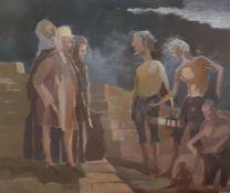Bernard Robinson (1912-1970) English, 'Diogenes', unsigned, oil on board, unframed, (33x39 cm).