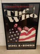 """A vintage poster of """"The Who. The kids are alright tour"""" for they celebration of the 25 years ("""