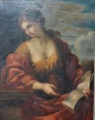 """After Giovanni Francesco Romanelli, """"The Cumaean Sibyl"""", oil on canvas (relined), unframed, the"""