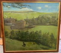 A very large farmhouse scene with cows and horses AF (Frame size 107x97)