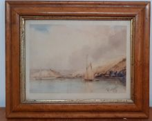 William Williams of Plymouth (1808-1895) British, 'Coastal scene', signed and dated '46,