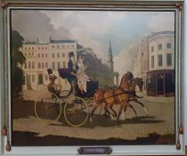 "A print after Doris Zinkeisen (1898-1991) Scottish, ""In Regency Times"", within a custom frame, ("