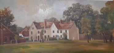 "Bernard Robinson (1912-1970) English, ""York house"", unsigned, titled verso, oil on board,"