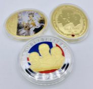 Three collectable coins Diamond Jubilee, The Three Kings and Year of The Three Kings.