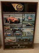 A Lloyds & Scottish Historic Car Championship Vintage Poster, framed (60cm x 90cm)
