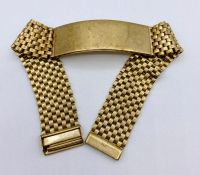 A 9ct gold watch strap (Total Weight Approx 37g)