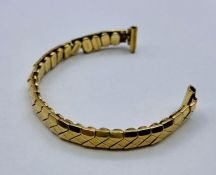 A 9ct gold Ladies Excalibur watch strap (10g Total weight)