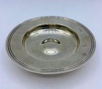 An silver Armada dish (108g) by Boodle & Dunthorne Hallmarked for London 1970