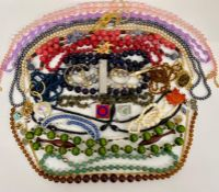 A small selections of various items to includes beads
