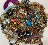 A large selection of costume jewellery